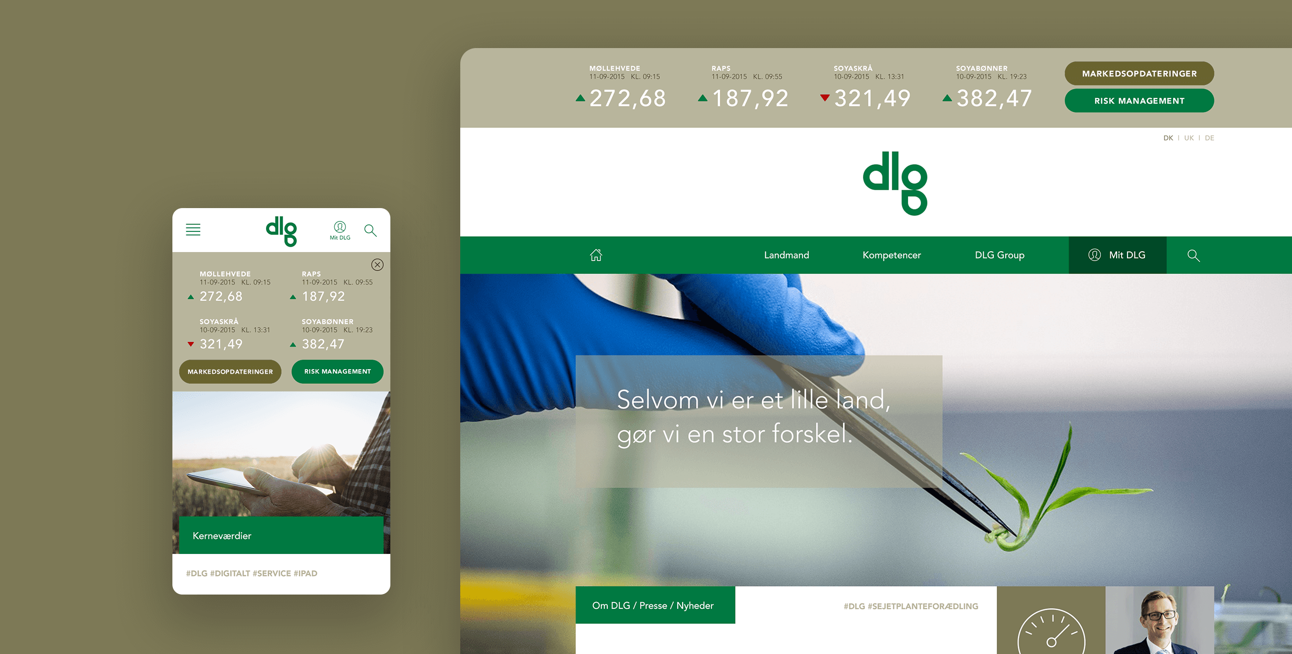 DLG — Visual identity, art direction and UX/UI design.