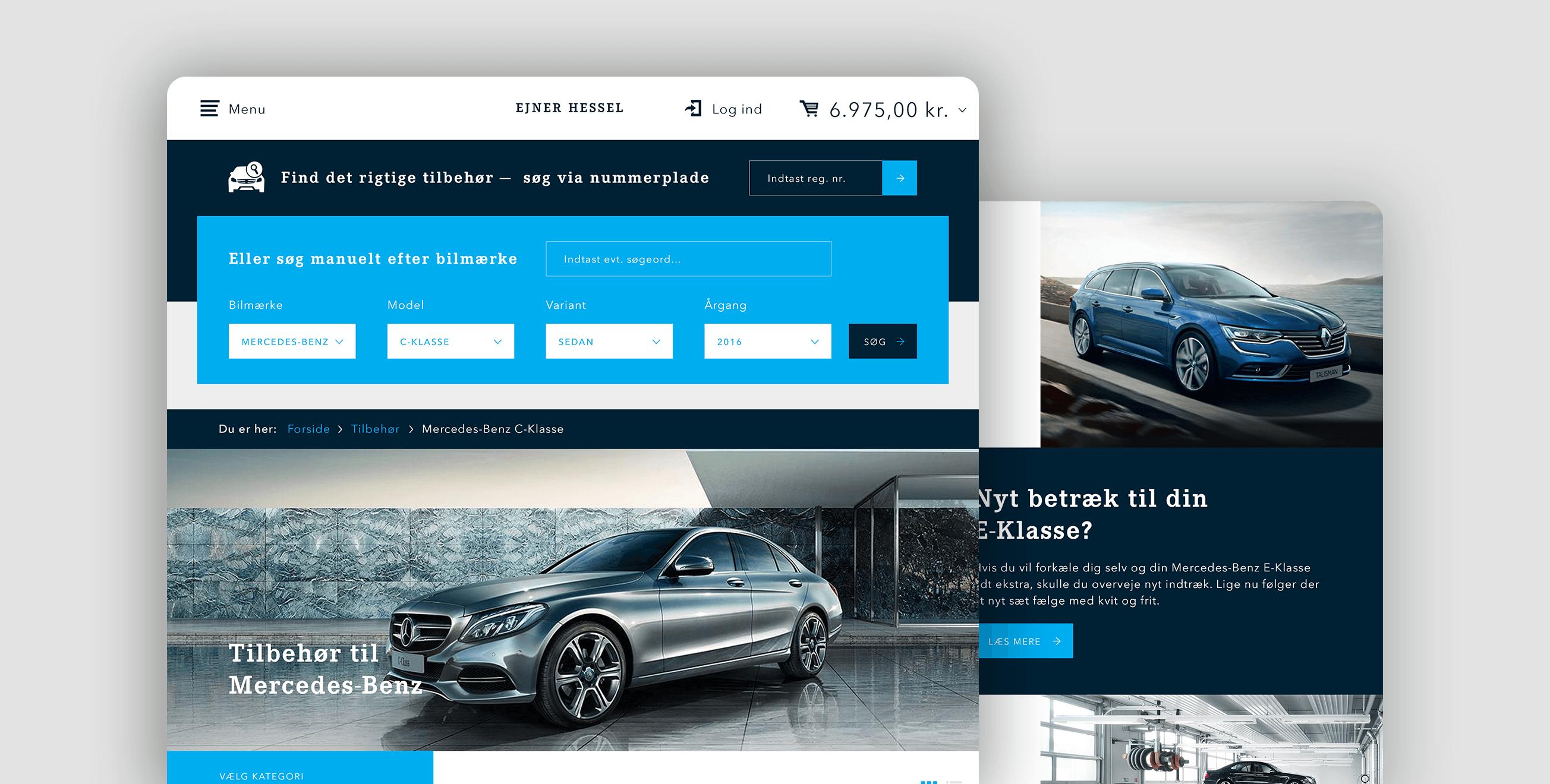 Ejner Hessel — Visual identity, art direction and UX/UI ecommerce design.