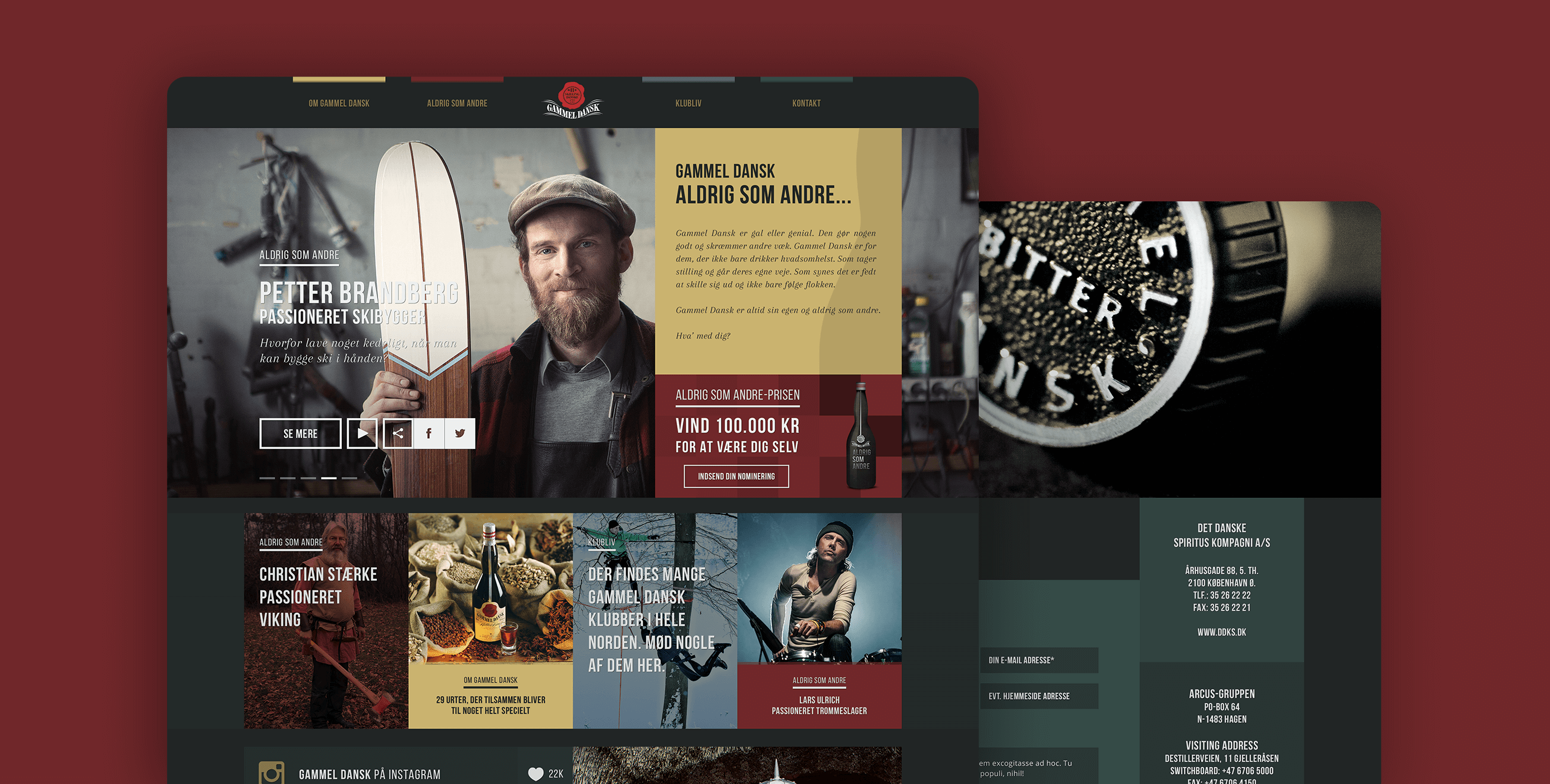 Gammel Dansk — Visual identity, art direction and UX/UI design.