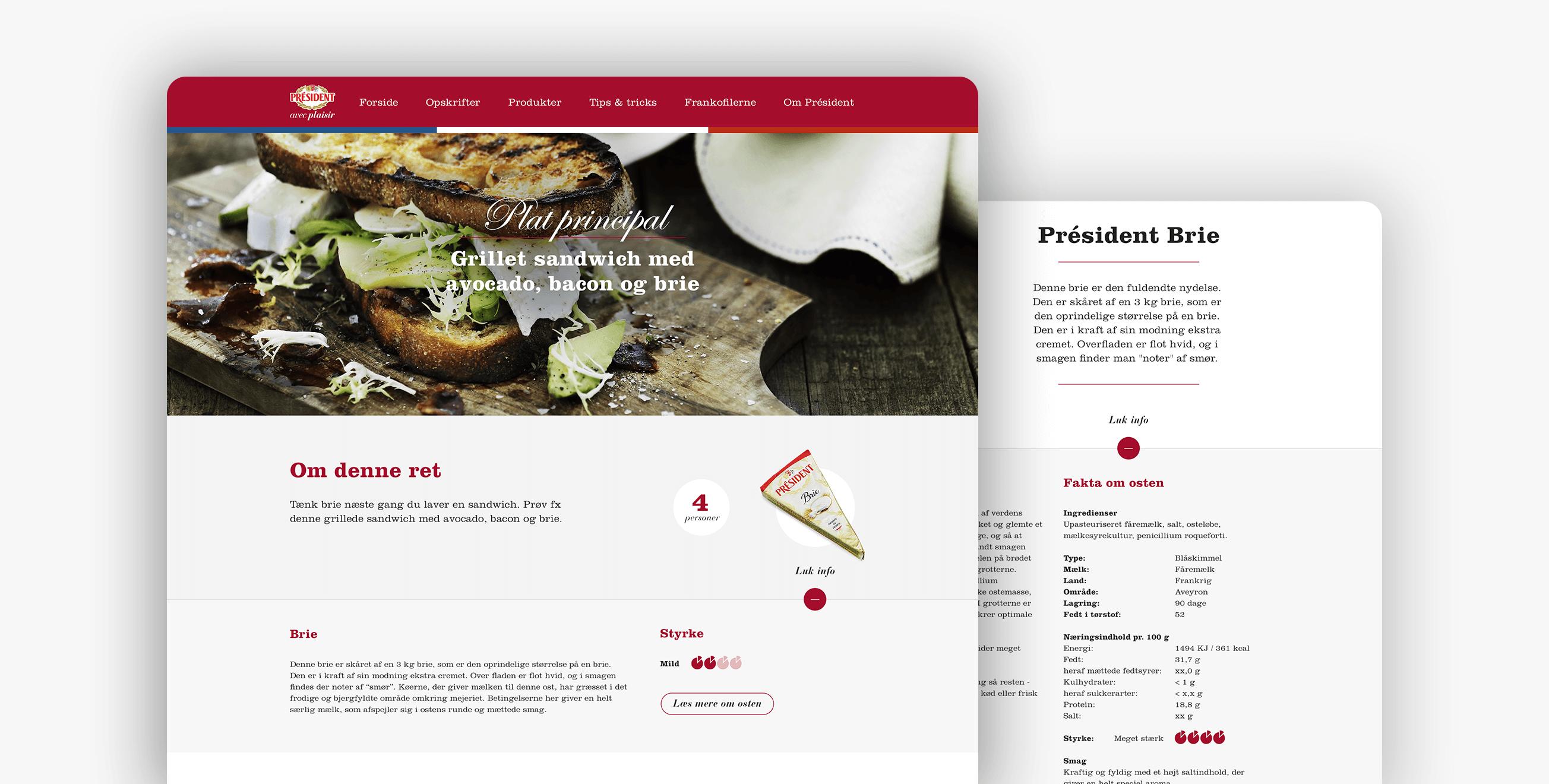 Président — UX/UI design.
